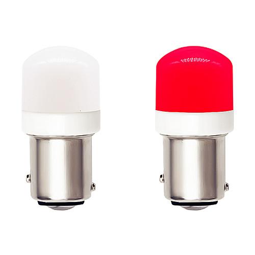 2pcs Super Bright 1157 BAY15D Car LED Light Bulbs CANBUS 9-30V DC 4.5W Ceramics SMD 3030 6 LED White Red for Turn Signal Lights Braking Lights Parking Lamp