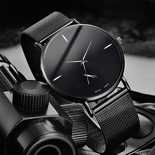 Men's Dress Watch Quartz Stylish Stainless Steel Black / Silver / Gold 30 m Water Resistant / Waterproof Casual Watch Cool Analog Casual Fashion - Black Silver Rose Gold One Year Battery Life
