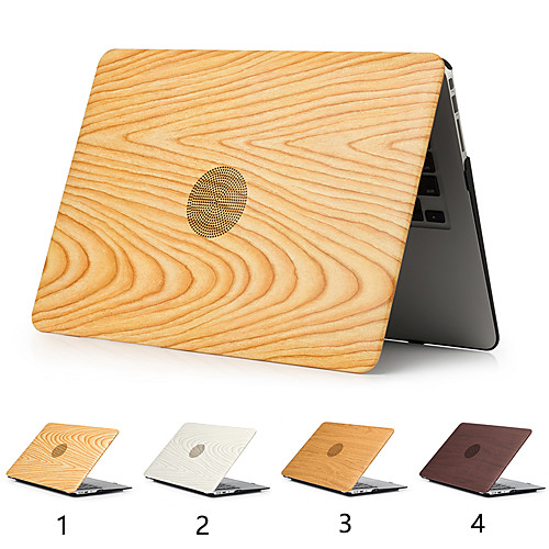 Wood Grain Cover Case For MacBook Pro Air 11-15 Computer Case 2018 2017 2016 Release A1989 / A1706 / A1708 With Touch Strip PVC Hard Shell