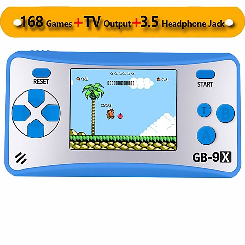 GB-9X Portable handheld Game Console for Children Arcade System Game Consoles Video Game Player with 2.5 Color LCD and 168 Classic Retro Games Built-in Great Birthday Gift for Kids