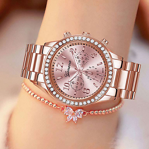 Women's Quartz Watches Casual Fashion Silver Gold Rose Gold Stainless Steel Chinese Quartz Gold Silver Rose Gold Water Resistant / Waterproof Casual Watch Cool 30 m 1 pc Analog One Year Battery Life