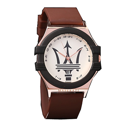 Men's Bracelet Watch Quartz Modern Style Sporty Silicone 30 m Creative Casual Watch Large Dial Analog Casual Fashion - Brown Red Blue