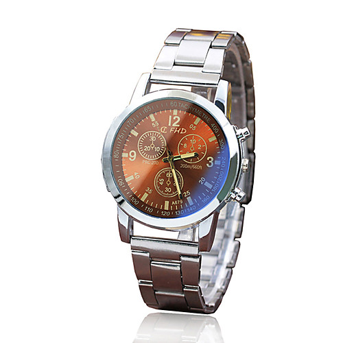 Men's Dress Watch Quartz Stylish Stainless Steel White Casual Watch Analog Classic - White Black Coffee One Year Battery Life