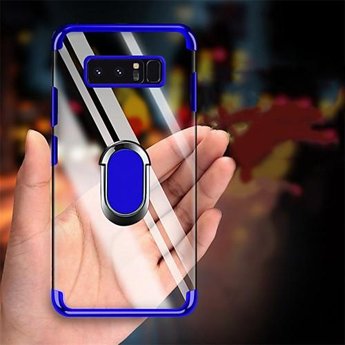 Plating Soft TPU Transparent Anti-shock Case for Samsung Galaxy S10 Plus S10 S10 5G S10 E S9 Plus S9 S8 Plus S8 S7 Edge S7 Case Finger Ring Cover