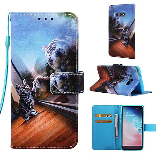 Case For Samsung Galaxy S9 / S9 Plus / S8 Plus Wallet / Card Holder / with Stand Full Body Cases Cat Hard PU Leather