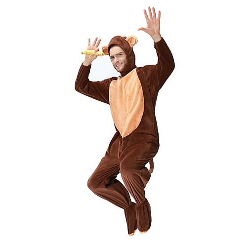 Monkey Costume Men's Animal Halloween Performance Cosplay Costumes Theme Party Costumes Men's Dance Costumes Polyester Split Joint