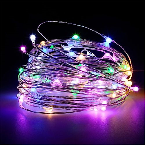 10m 100leds Usb Powered Silver Copper Wire String Lights