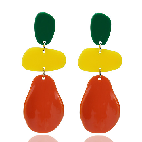 Women's Stud Earrings Fancy Flower Shape Stylish Romantic Sweet Fashion Cute Earrings Jewelry Orange For Daily Street Holiday Bar Promise 1 Pair
