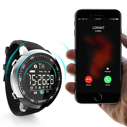 lokmat MK18 Men Women Smartwatch Android iOS Bluetooth Waterproof Sports Smart Information Timer Stopwatch Pedometer Call Reminder Activity Tracker