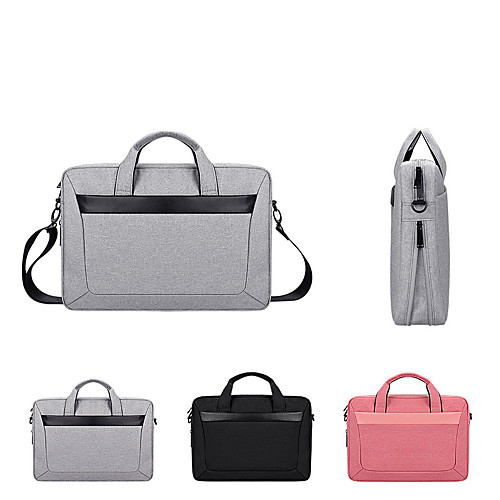 "Laptop Bag 15.6/"" USB Briefcase Waterproof Travel Business Messenger Shoulder W L"
