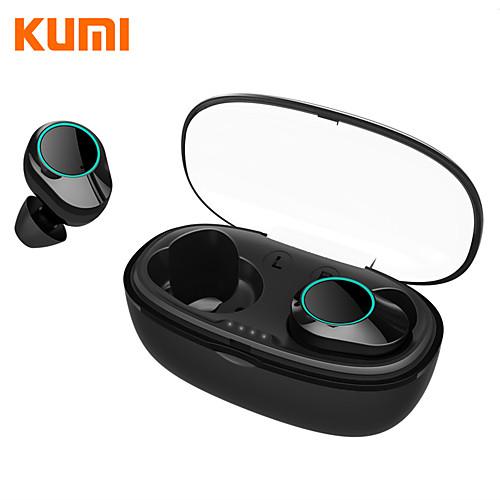 KUMI T5S TWS True Wireless Earbuds IPX7 Waterproof Bluetooth 5.0 Smart Touch Control Headphone Sport Fitness Earphone