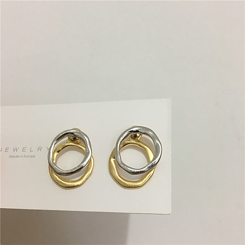 Women's Earrings Rolo Alphabet Shape Sweet Heart S925 Sterling Silver Earrings Jewelry Gold For Gift Daily Festival 1 Pair