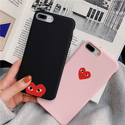 Solid Color Heart TPU Case For Apple iPhone 11 Pro Max 8 Plus 7 Plus 6 Plus Max Pattern Back Cover