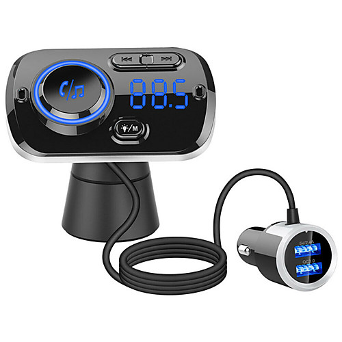 WAZA BT01 Car Bluetooth 4.1 FM Transmitter Quick Charge 3.0