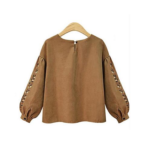 miniinthebox / Mujer Básico Blusa Geométrico Color Camello
