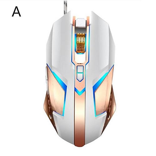LITBest T03 Wired USB Optical Gaming Mouse / Ergonomic Mouse Multi-colors Backlit 4800 dpi 4 Adjustable DPI Levels 8 pcs Keys