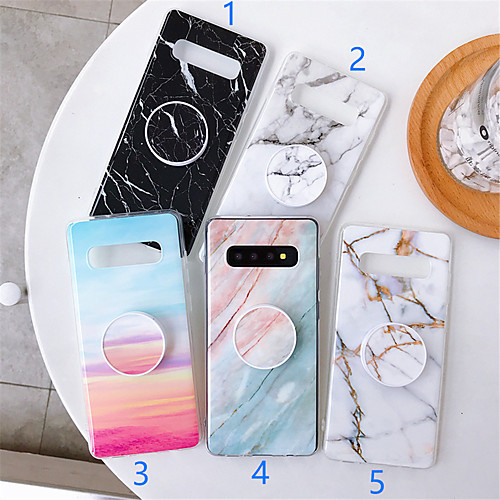 Case For Samsung Galaxy S9 / S9 Plus / S8 Plus with Stand / Pattern Back Cover Marble TPU