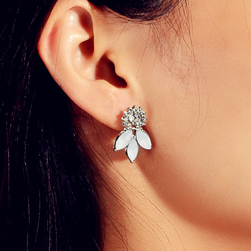 Women's Earrings Classic Flower Flower Shape Stylish Sweet Modern Cute French Earrings Jewelry Silver For Wedding Party Daily Festival 1 Pair