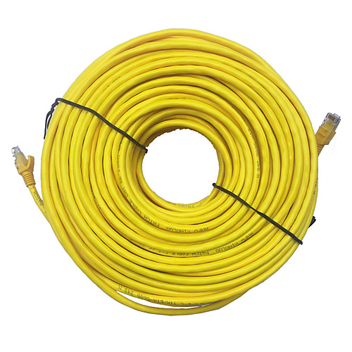 Yellow External Outdoor Network Ethernet Cable Cat5e 100/% Copper RJ45 1-30M