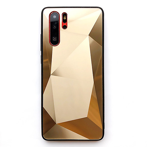 Case For Huawei Huawei p20/p20lite/mate10lite/mate20lite/P30/P30 Pro/P30 lite/ Dustproof / Plating / Mirror Back Cover Solid Colored / Geometric Pattern TPU / Acrylic