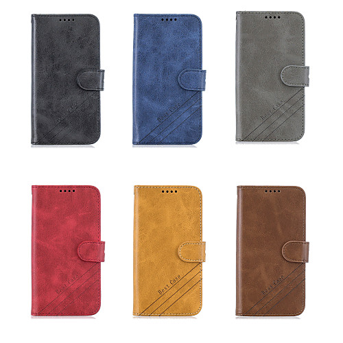 Case For OPPO Oppo F11 Pro Wallet / Card Holder / with Stand Full Body Cases Solid Colored PU Leather