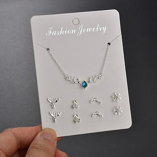 Women S Stud Earrings Necklace Deer Simple Korean Fashion