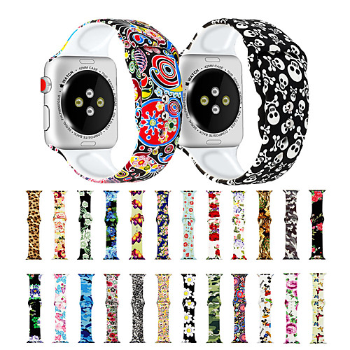 Variety of Printing Compatible with Apple Watch Band 38mm 40mm 42mm 44mm Fadeless Pattern Printed Bands for iWatch Band Strap Series 5/4/3/2/1