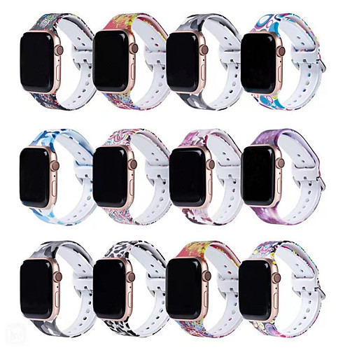 Apple Watch Band 38mm 40mm 42mm 44mm Fadeless Pattern Printed Bands for iWatch Band Strap Series 5/4/3/2/1
