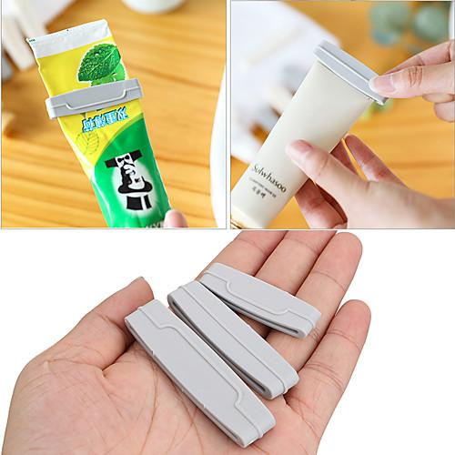 3pcs/set Toothpaste Squeezer Dispenser Cream Tube Squeezer Extruding Toothpaste Clip Bathroom Products Easy Random Color