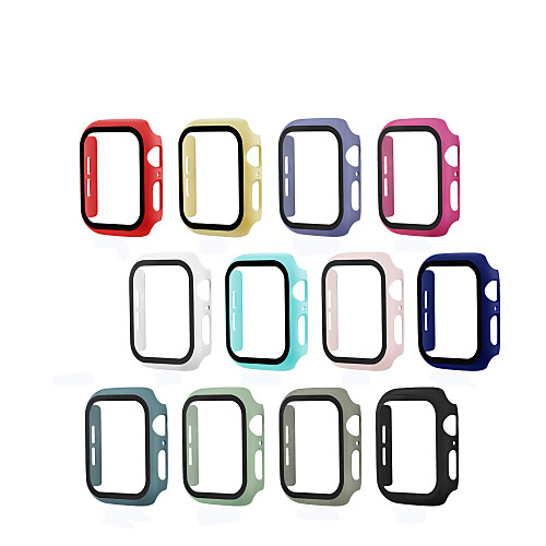 Super Thin Case Fits Apple Watch Series 5 4 3 2 1 Case With Screen Protector Waterproof Scratch For Iwatch 44mm 42mm 40mm 38mm