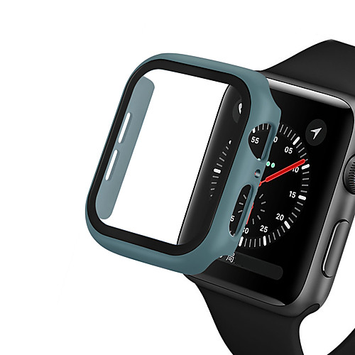 PC cover For Apple Watch Series 5/4/3/2/1 Protective Shell Case With Tempered Glass Film For iWatch 40mm/44mm/42mm/38mm Watch Case