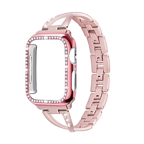 For Apple Watch Band ladies strapCase 38mm / 42mm / 40mm / 44mm diamond iwatch series stainless steel strap 5 4 3 2 1 bracelet