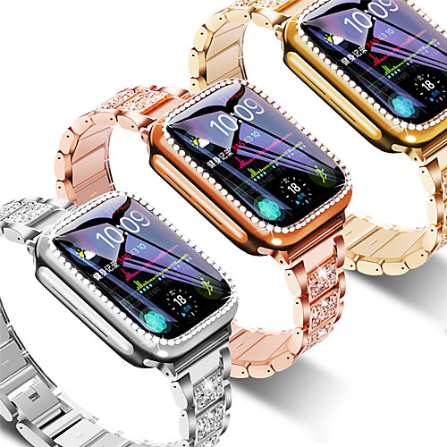 Strap Case Suitable for Apple Watch 40mm 44mm 38mm 42mm band for iwatch series 5 4 3 2 1 stainless steel diamond bracelet