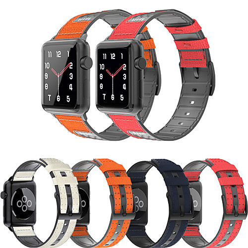 For Apple Watch Series 5 4 3 2 1 Leather Silicone Bracelet Sport Strap Accessories Replacement wristband for iwatch 38mm 42mm 40mm 44mm