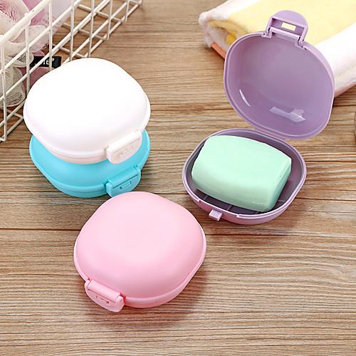 Bathroom Soap Dish Plate Case Home Shower Travel Hiking Holder Container Soap Box Zeepbakje Porte Savon Jabonera Soap Holder Random Color