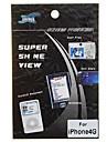protetor de tela + pano de limpeza para o iphone 4