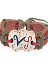 Fashion Leather Handmade Zodiac Bracelet-Virgo (BSS23)