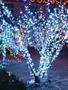 10m de 100 6w lampe led blanche guirlande lumineuse pour Noël Halloween décoration festival (110/220v)