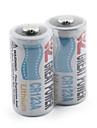grande puissance de la batterie au lithium CR123A-blanc (2-pack)