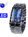 Fashion Stainless Steel Band LED Wrist Watch