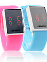 Silicone Band Sports Style Red LED Couple Wrist Watch
