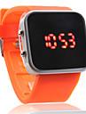 Montre LED Sportive en Silicone, Unisexe - Orange