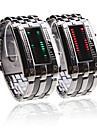 Double Row Arrayed Couple Style Men Green and Women Red LED Wrist Watch