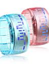 미래 디자인의 쌍 (하늘색, 분홍색) 팔찌 시계를 이끌고