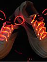 Flash croître bâton lumière rouge LED étanche lacet (1 paire)
