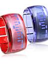 paire de conception future Bracelet montre-bracelet led bleu - bleu et rouge