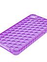 bulle de boîtier transparent souple pour iphone4 (violet)