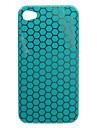 Stylish Nest Pattern Hard Case for iPhone4 (Blue)
