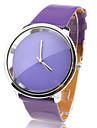 Кварцевые элегантные часы с фиолетовым ремешком