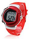 Мужской Спортивные часы LCD Tонометр Календарь Секундомер тревога Цифровой Группа Красный